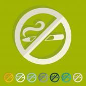 No smoking icons — Stock Vector