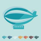 Airship icons — Stock Vector