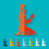 Muslimské ikony — Stock vektor