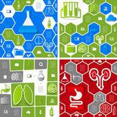 Медицинские стикер инфографики — Cтоковый вектор