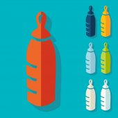 Baby bottle icons — Stock Vector