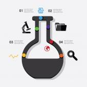 Eğitim infographic — Stok Vektör