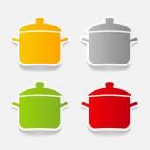 Saucepan icon — Stock Vector