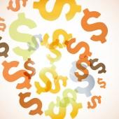 Streszczenie tło z pieniędzy — Wektor stockowy