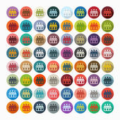 Jurors icons — Stock Vector