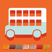 Bus double decker icons — Stock Vector