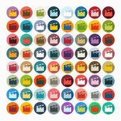 Clapper cinema icons — Stock Vector