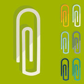 Paper clip icons — Stock Vector