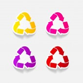 Recycle signs in realistic design — Stock Vector