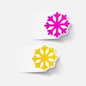 Snowflakes in realistic design — Stock Vector