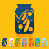 Pickled vegetables icon — Vettoriale Stock