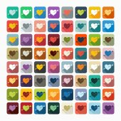 Heart icons — Stock Vector