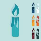圣诞蜡烛图标 — 图库矢量图片