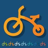 Childrens bike icons — Stock Vector
