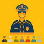 Police officer icons — Stock Vector
