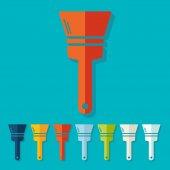 Paint brush icons — Stockvektor