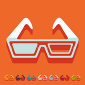 3d glasses icons — Stock Vector