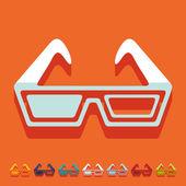 3d gözlük simgeler — Stok Vektör