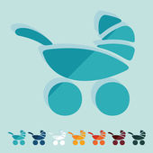 Baby buggy icons — Stock Vector