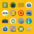 Set of fashion flat icons — Stock Vector #59048307