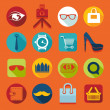 Set of fashion flat icons — Stock Vector #59047945