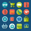 Set of fashion flat icons — Stock Vector #59048675