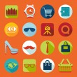 Set of fashion flat icons — Stock Vector #59049549