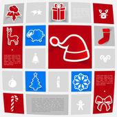 圣诞贴纸 — 图库矢量图片