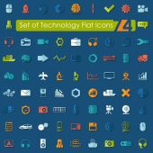 Set of technology flat icons — Wektor stockowy