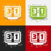 Business formulas with score board icon — Stock Vector