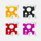 Cheese icon — Stock Vector