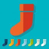 Christmas sock icons — Stock Vector