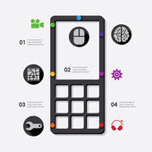 Technology infographic — Stock Vector