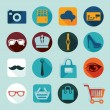 Set of fashion flat icons — Stock Vector #59050653