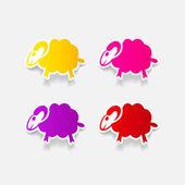 Sheep icon — Stock Vector