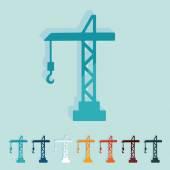 Hoisting crane icons — Stock Vector