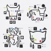 ветеринарные инфографики — Cтоковый вектор
