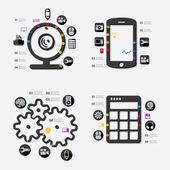 インフォ グラフィック技術 — ストックベクタ