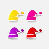 Santa hat icon — Stock Vector