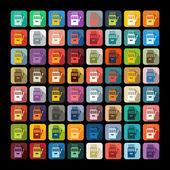 Slot machine icons — Stock Vector