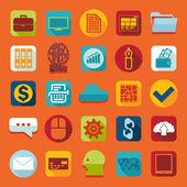 Sada plochých ikon podnikání — Stock vektor
