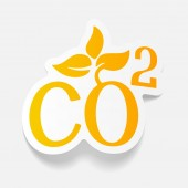 Co2 sign dioxide icon — Stock Vector