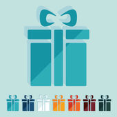 Geschenk-box-symbol — Stockvektor