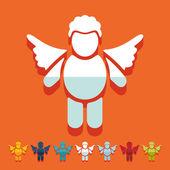 Angel icon — Stock Vector