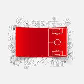 Fórmulas de negocio con terreno de juego — Vector de stock