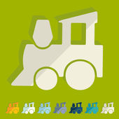 Childrens train icon — Stock Vector