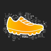 Business formulas with sneakers icon — Stock Vector