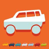 Icône de voiture Suv — Vecteur