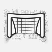 Drawing business formulas with gate — Vetor de Stock