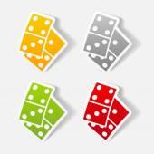 Domino icon — Stock Vector